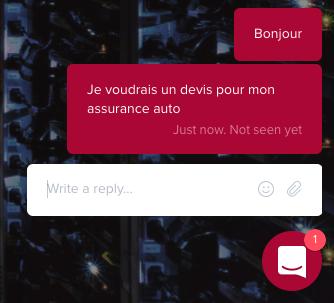 Intégration d'un chatbot Clustaar directement sur le site web, via une fenêtre de LiveChat