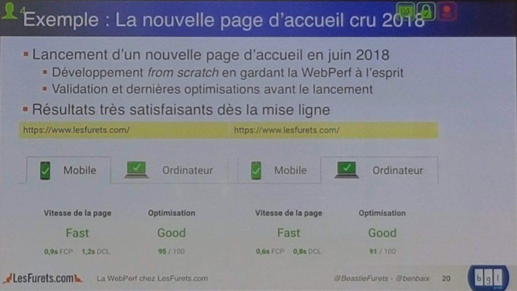 Performance web nouvelle page lesfurets.com