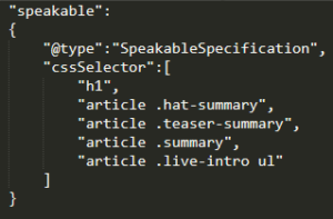 speakable specification code